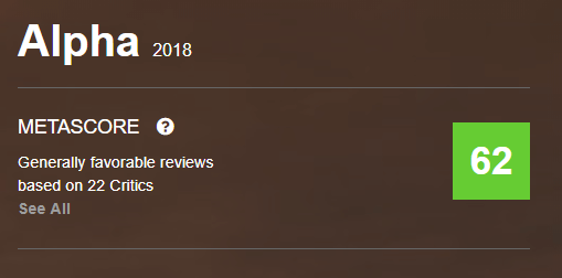 Alpha Metacritic Metascore