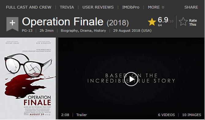 Operation Finale IMDb