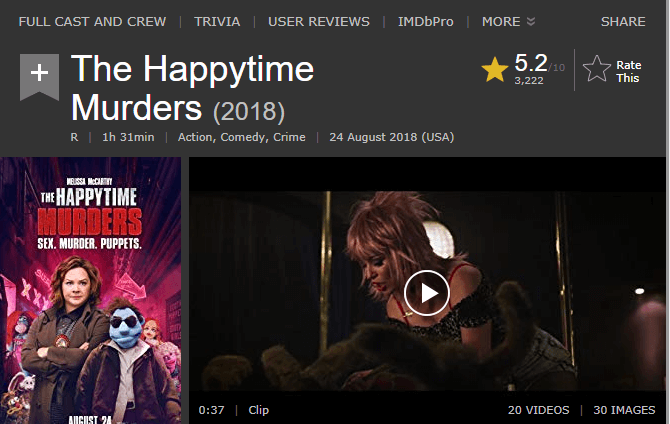 The Happytime Murders IMDb Reviews