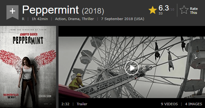 Peppermint IMDb Reviews and Ratings