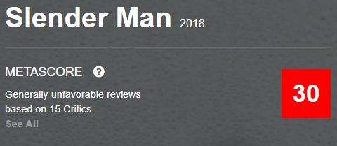 Slender Man Metacritic Metascore Reviews and Ratings