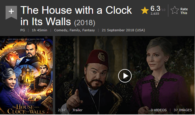 The House With a Clock in Its Walls IMDb Ratings and Reviews