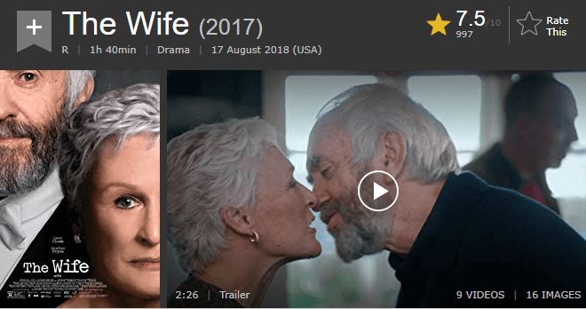 The Wife IMDb Reviews and Ratings