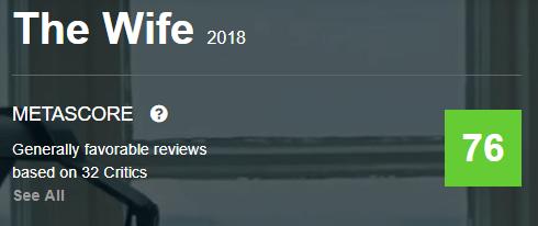 The Wife Metacritic Metascore