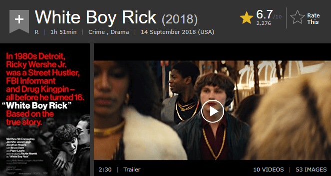 White Boy Rick IMDb Reviews and Ratings