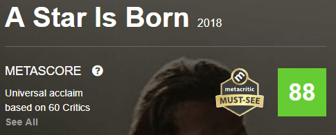 A Star Is Born Metacritic Metascore