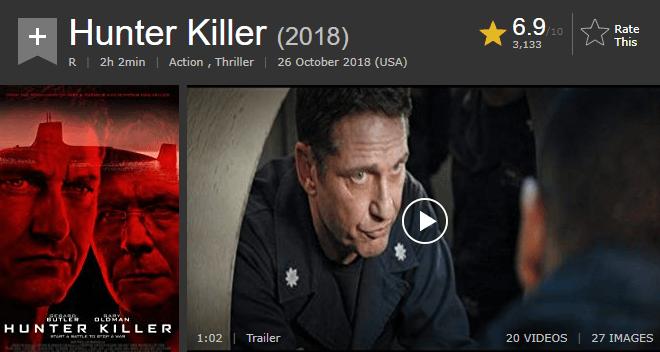 Hunter Killer IMDb Ratings and Reviews