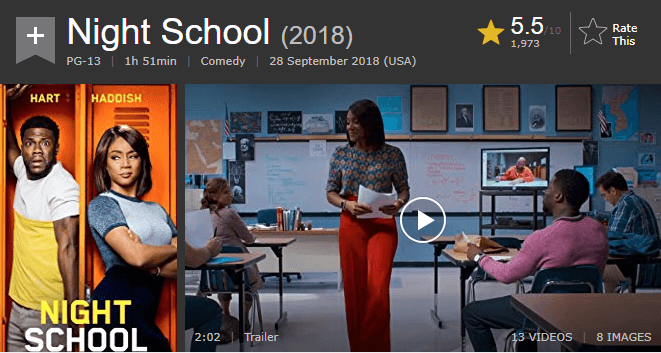 Night School IMDb Reviews and Ratings