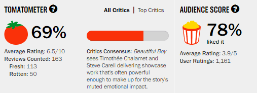 Beautiful Boy Rotten Tomatoes Tomatometer
