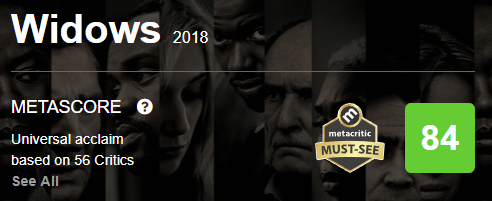 Widows Metacritic Metascore
