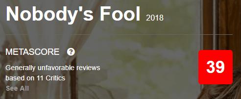 Nobody's Fool Metacritic Metascore