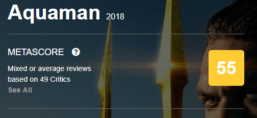 Aquaman Metacritic Metascore